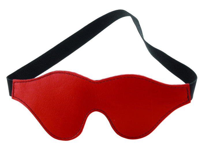 Crave Blindfold - Classic Cut Red Leather by Spartacus