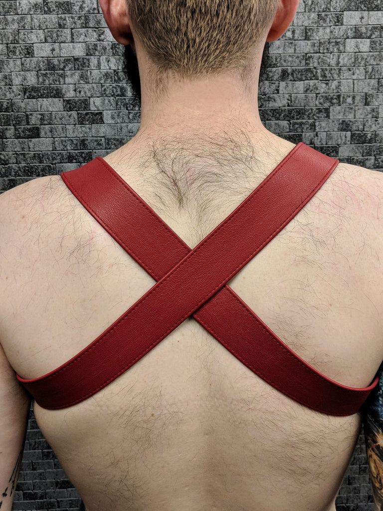 Crossed Back 1.5'' Leather Half-Harness