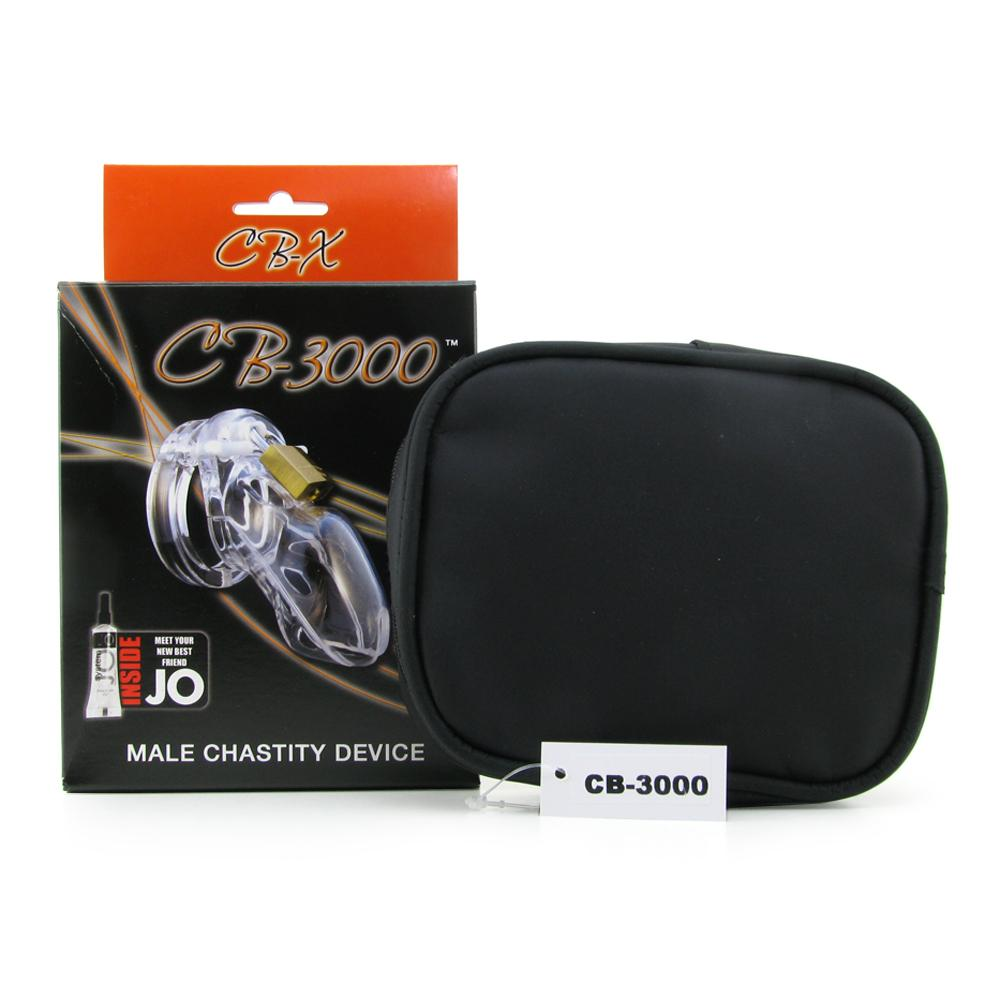 CB-3000 Chastity Device in Clear - 3""