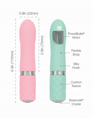 "Pillow Talk ""Flirty"" Bullet Vibe - Teal"