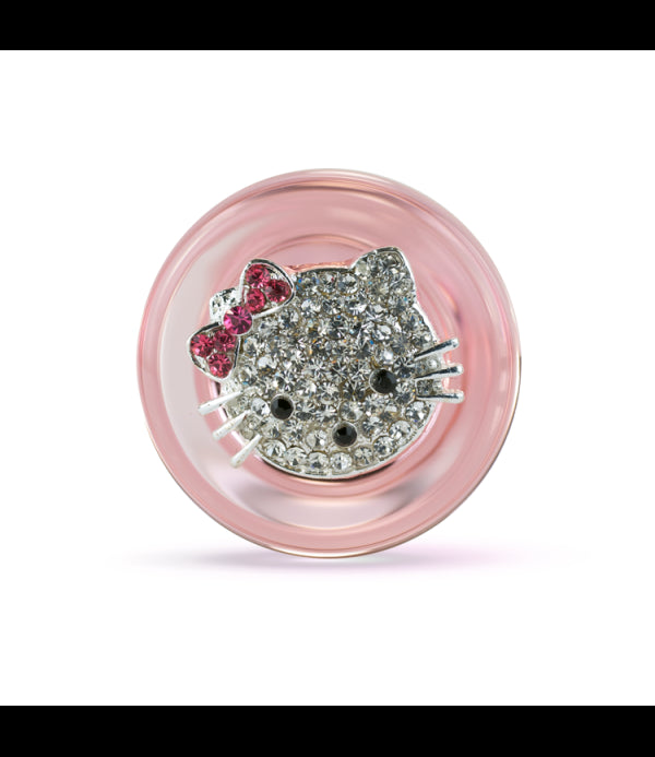 Pink Kitty Delight - Magnetic Medallion Plug by Crystal Delights