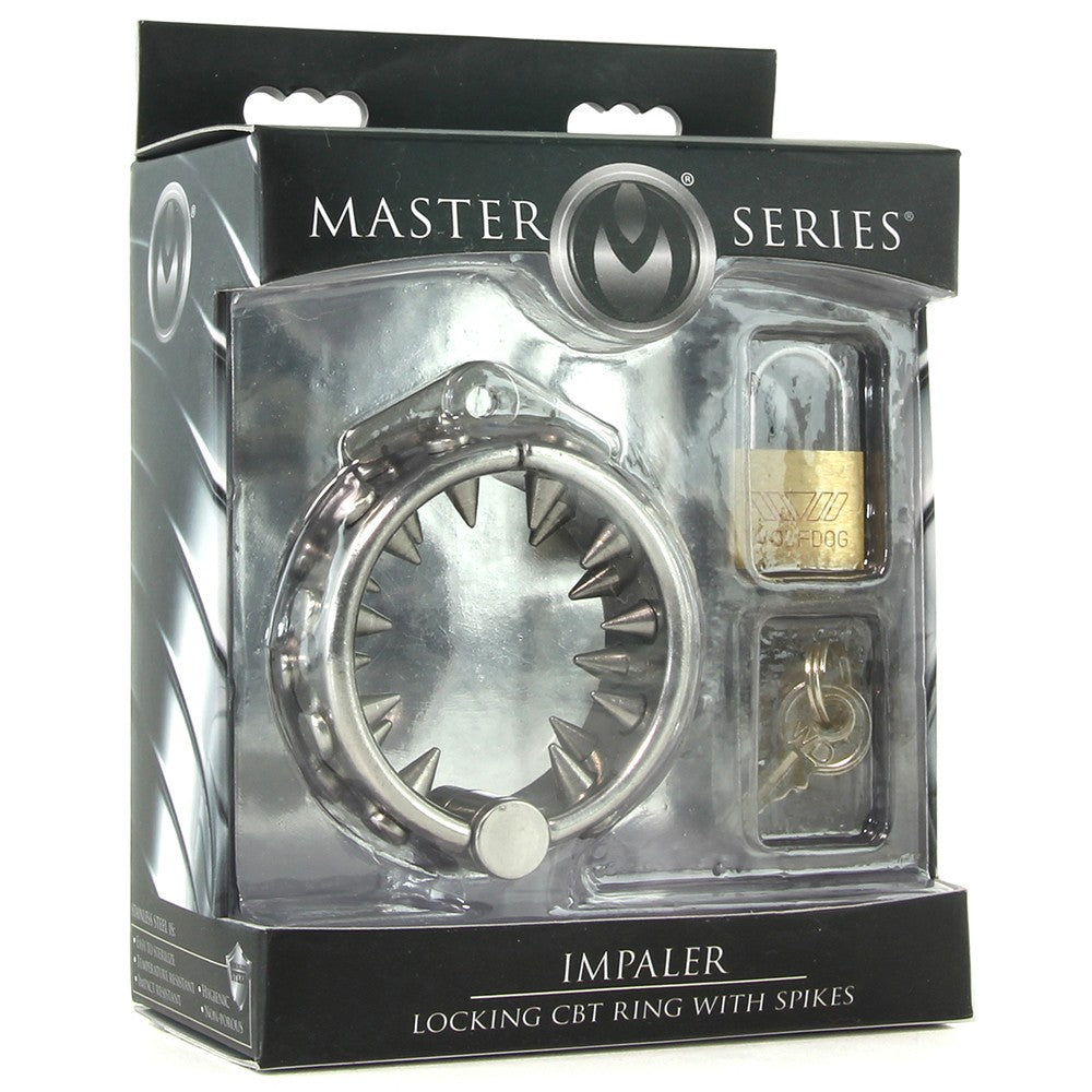 XR Brands - Master Series - Impaler Locking CBT Ring with Spikes