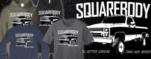 square body chevy truck apparel for owners of c10 c20 c30 k10 k20 k30 K5 and Suburbans from 1973-1987