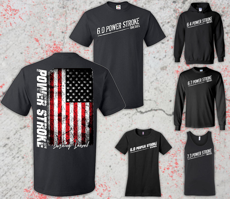 Powerstroke Diesel Truck Shirt, Hoodie, Tank Top, And Long Sleeve From Aggressive Thread