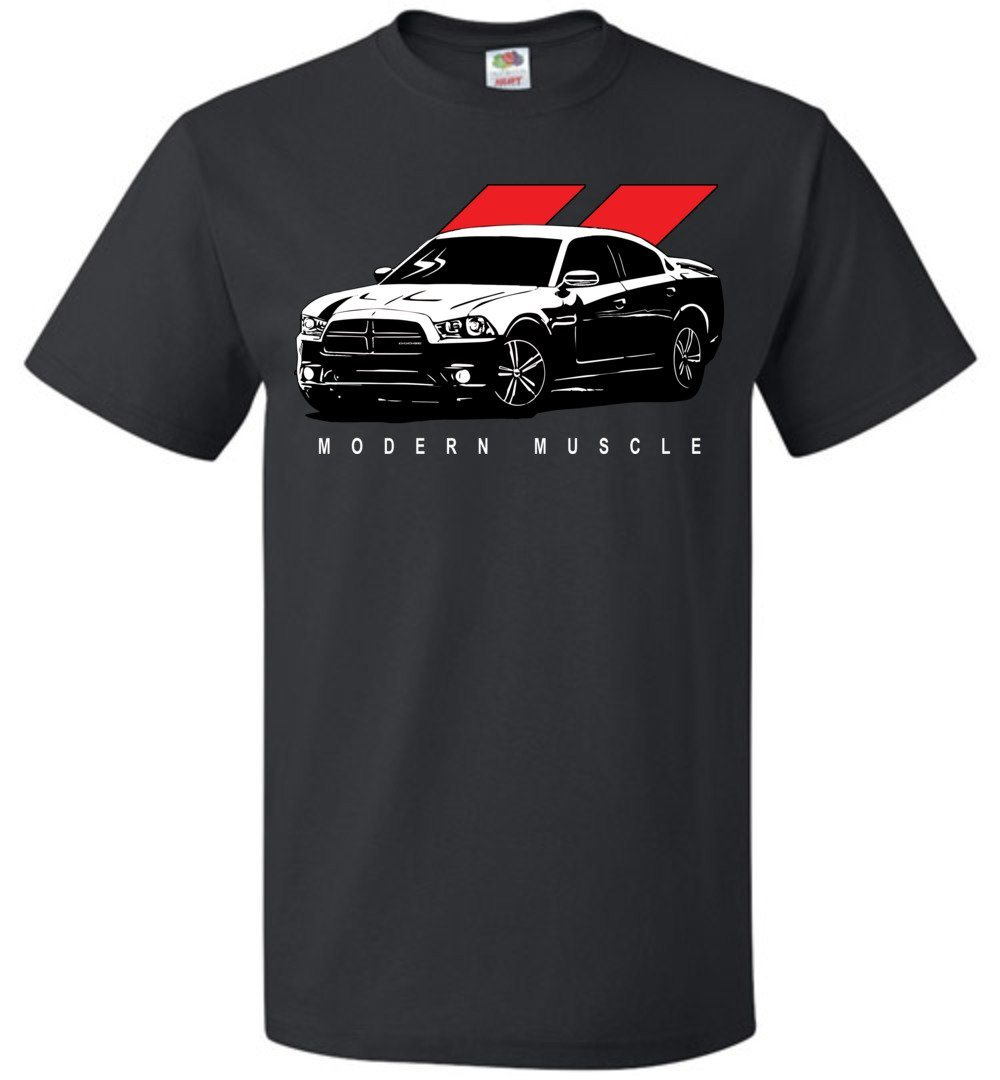 2010-2014 Dodge Charger T-Shirt | Mopar T-shirt | Hemi 5.7 | Aggressive Thread Muscle Car Apparel