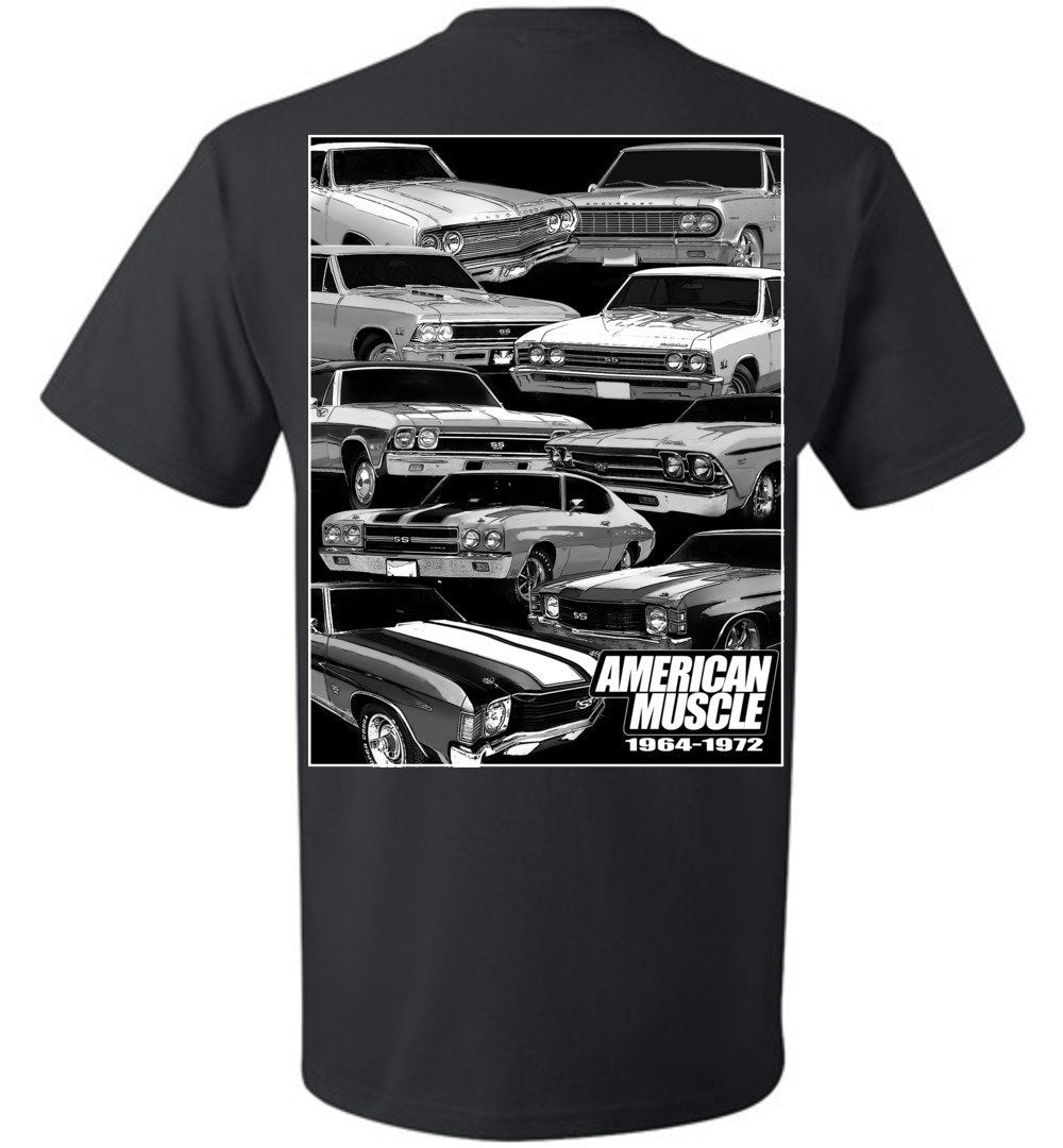 1964-1972 Chevelle T-Shirt | Chevy Chevelle T-Shirt | Aggressive Thread Muscle Car Apparel