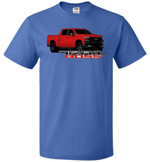 Red Chevy Trail Boss 1500 | Chevy truck apparel |Aggressive Thread Truck Apparel