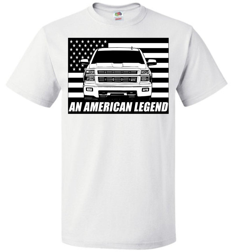 Chevy GMC Silverado T-Shirt With American Flag From Aggressive Thread