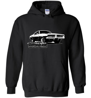 1969 Dodge Charger Hoodie Sweatshirt | Aggressive Thread Muscle Car Apparel