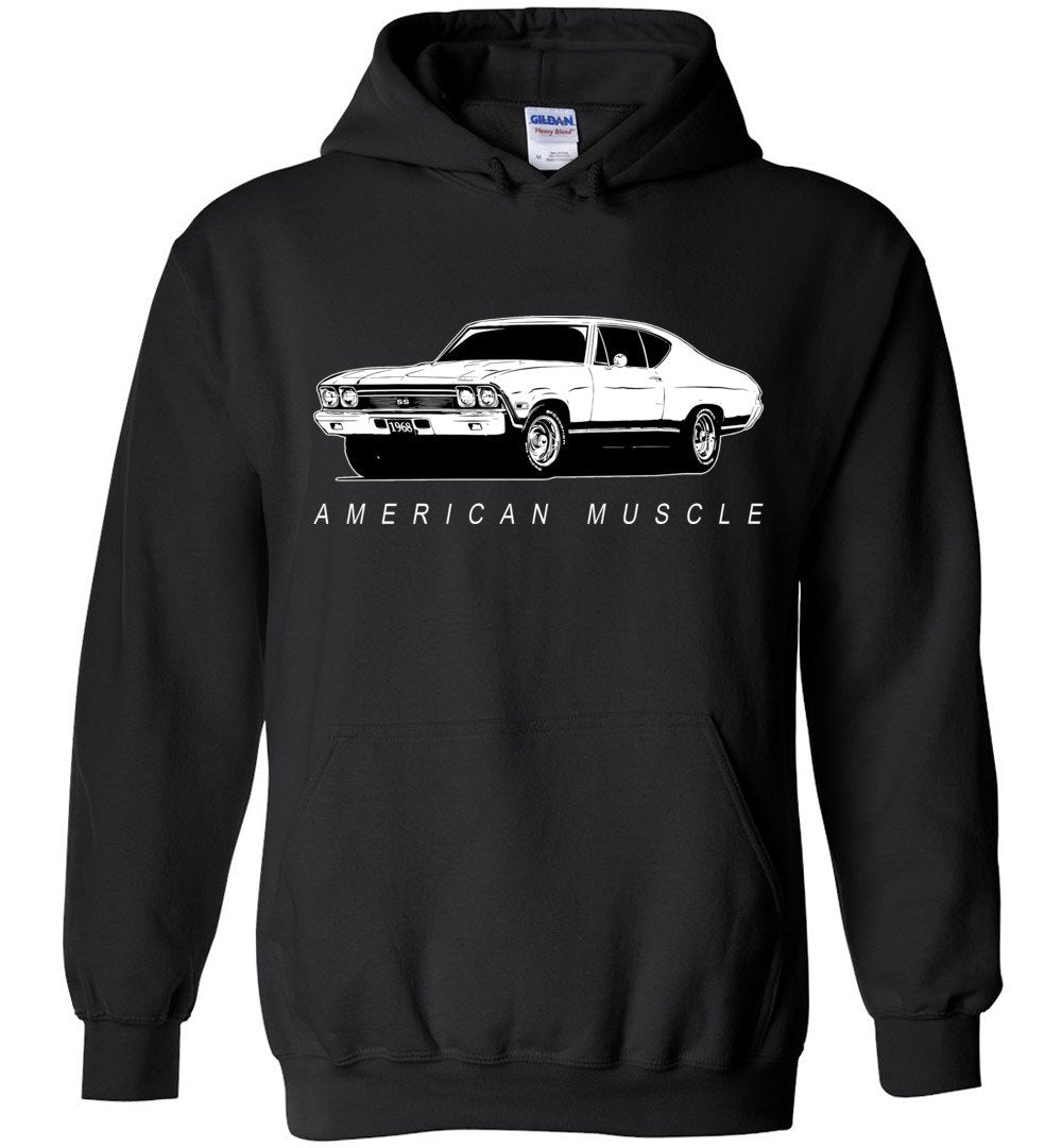 1968 Chevrolet Chevelle Hoodie Sweatshirt | Aggressive Thread Muscle Car Apparel