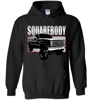 80s Squarebody Hoodie | Square Body Chevy Sweatshirt | Aggressive Thread Truck Apparel