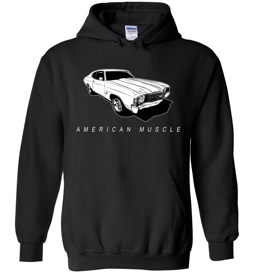 1972 Chevrolet Chevelle Sweatshirt Hoodie | Aggressive Thread Muscle Car Apparel