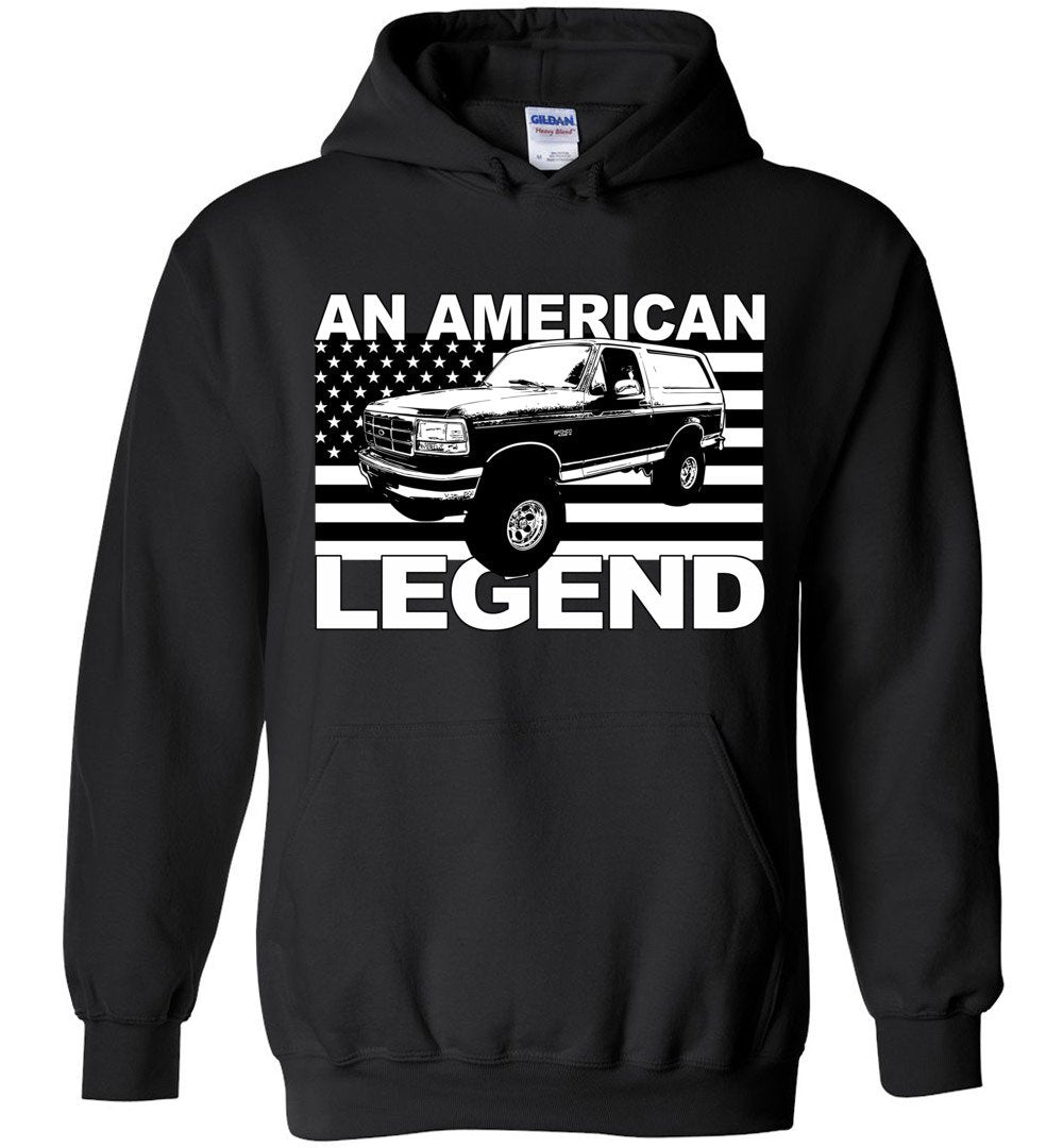 1988-1997 Ford Bronco Sweatshirt | Ford Bronco Hoodie | Aggressive Thread Truck Apparel