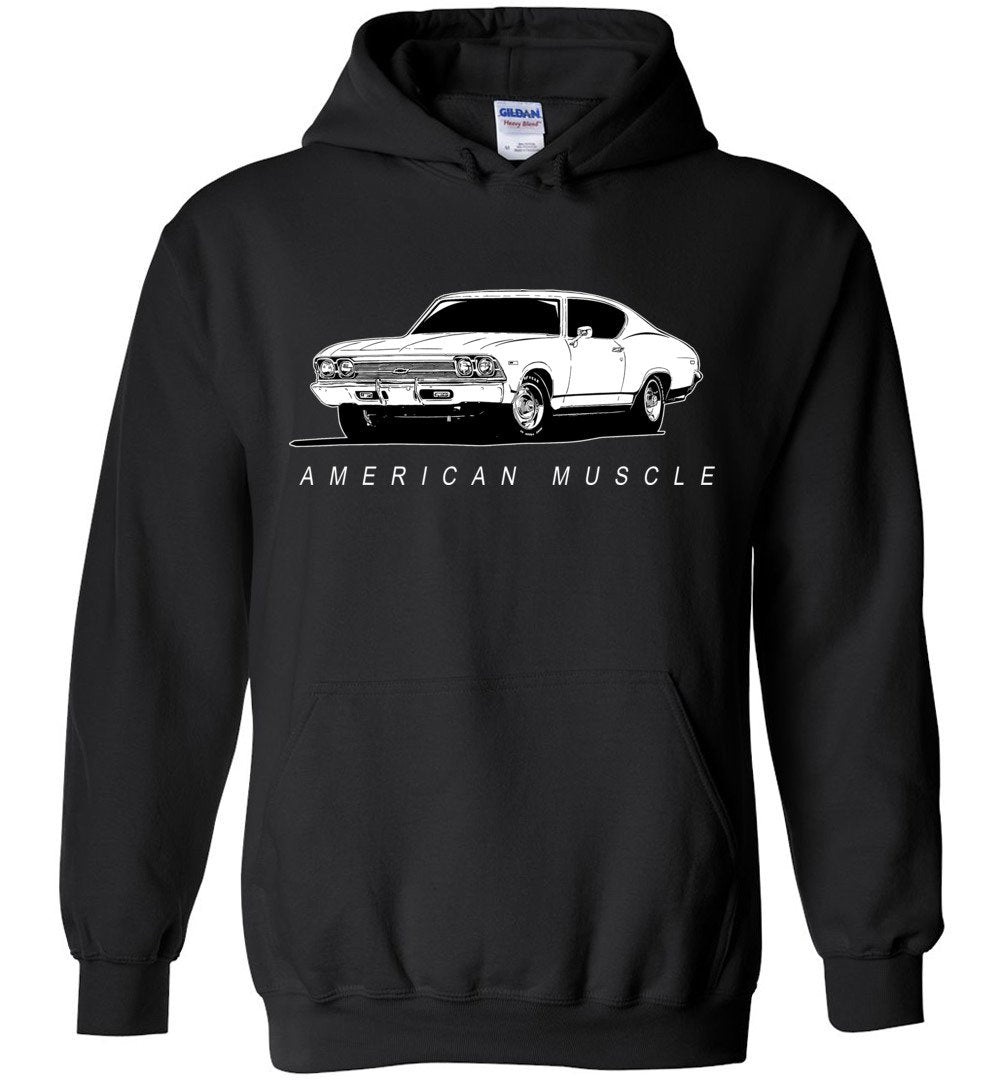 1969 Chevrolet Chevelle Hoodie Sweatshirt | Aggressive Thread Muscle Car Apparel
