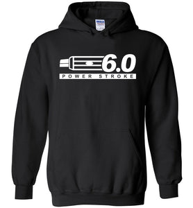 Powerstroke Power Stroke 6.0 With Grille Hoodie Sweatshirt - Aggressive Thread Diesel Truck T-Shirts
