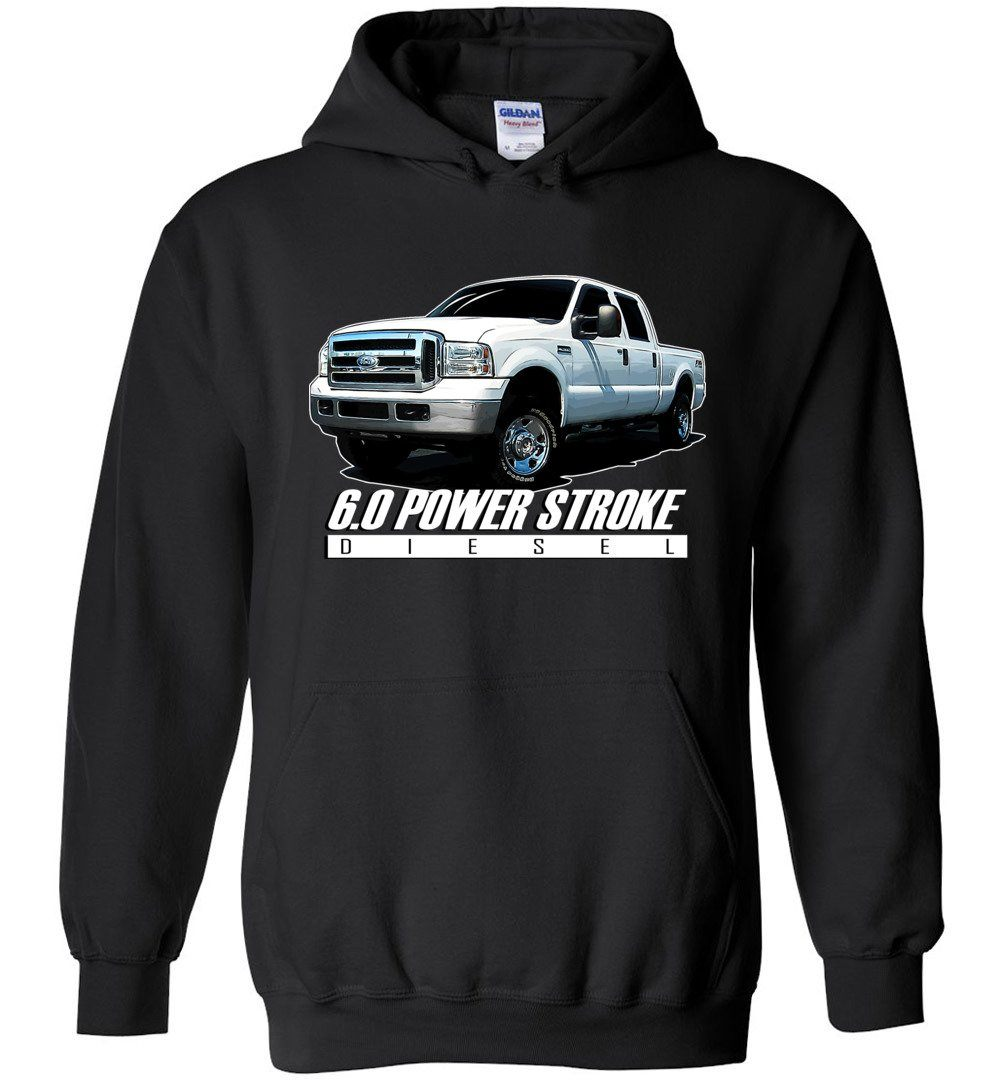 6.0 Power Stroke Hoodie | Powerstroke Shirt | Aggressive Thread Diesel Truck Apparel