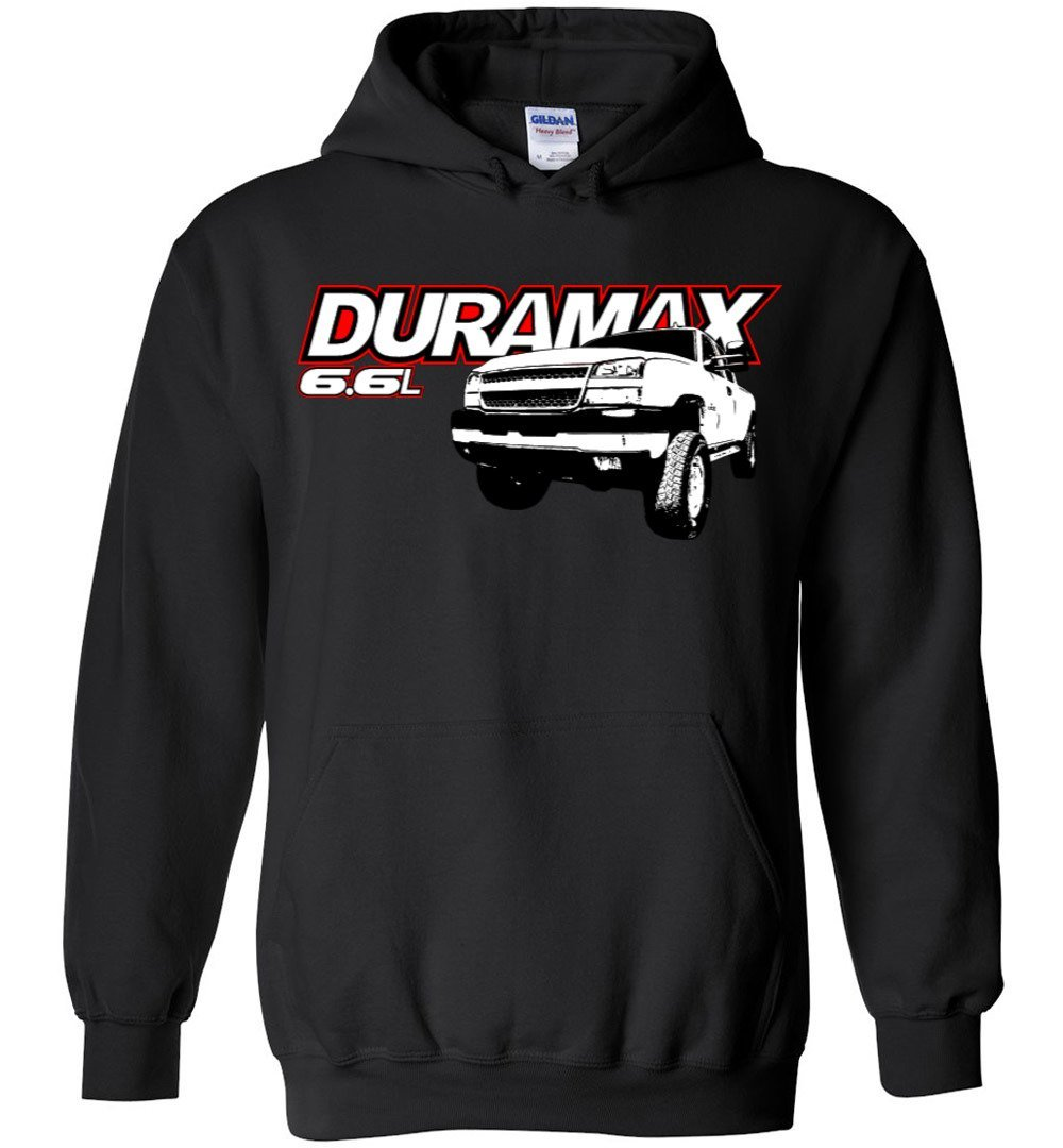 Duramax Hoodie Sweatshirt - Aggressive Thread Diesel Truck Apparel