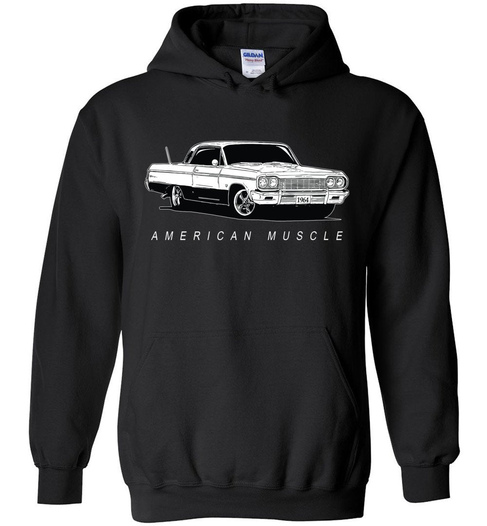 1964 Impala Chevelle Hoodie Sweatshirt | Aggressive Thread Muscle Car Apparel