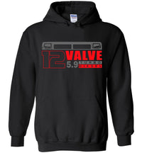 Cummins Hoodie Sweatshirt | 12 Valve Cummins Apparel | Aggressive Thread Diesel Truck Apparel