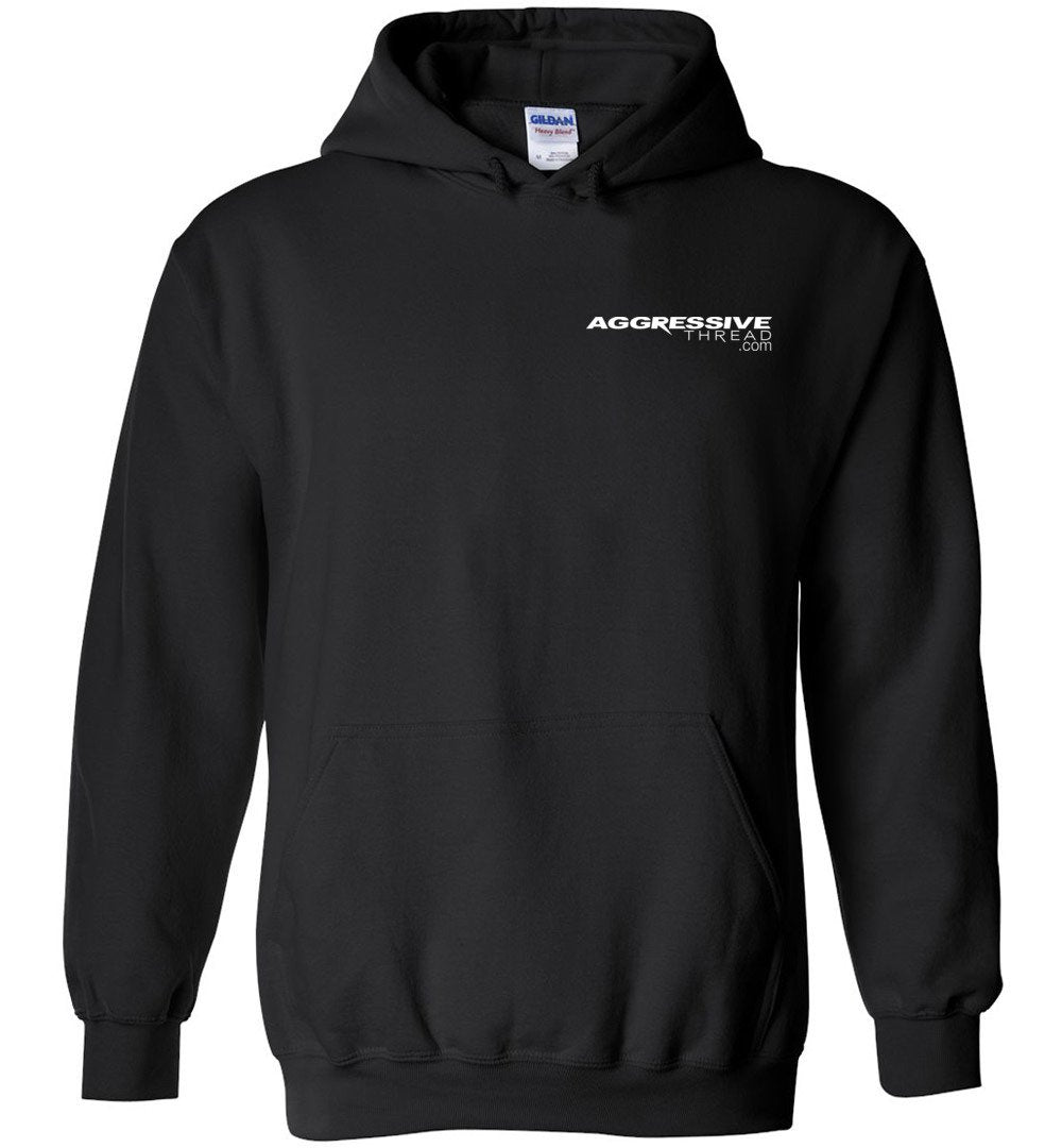 Powerstroke White American Flag Power Stroke Hoodie Sweatshirt - Aggressive Thread Diesel Truck T-Shirts