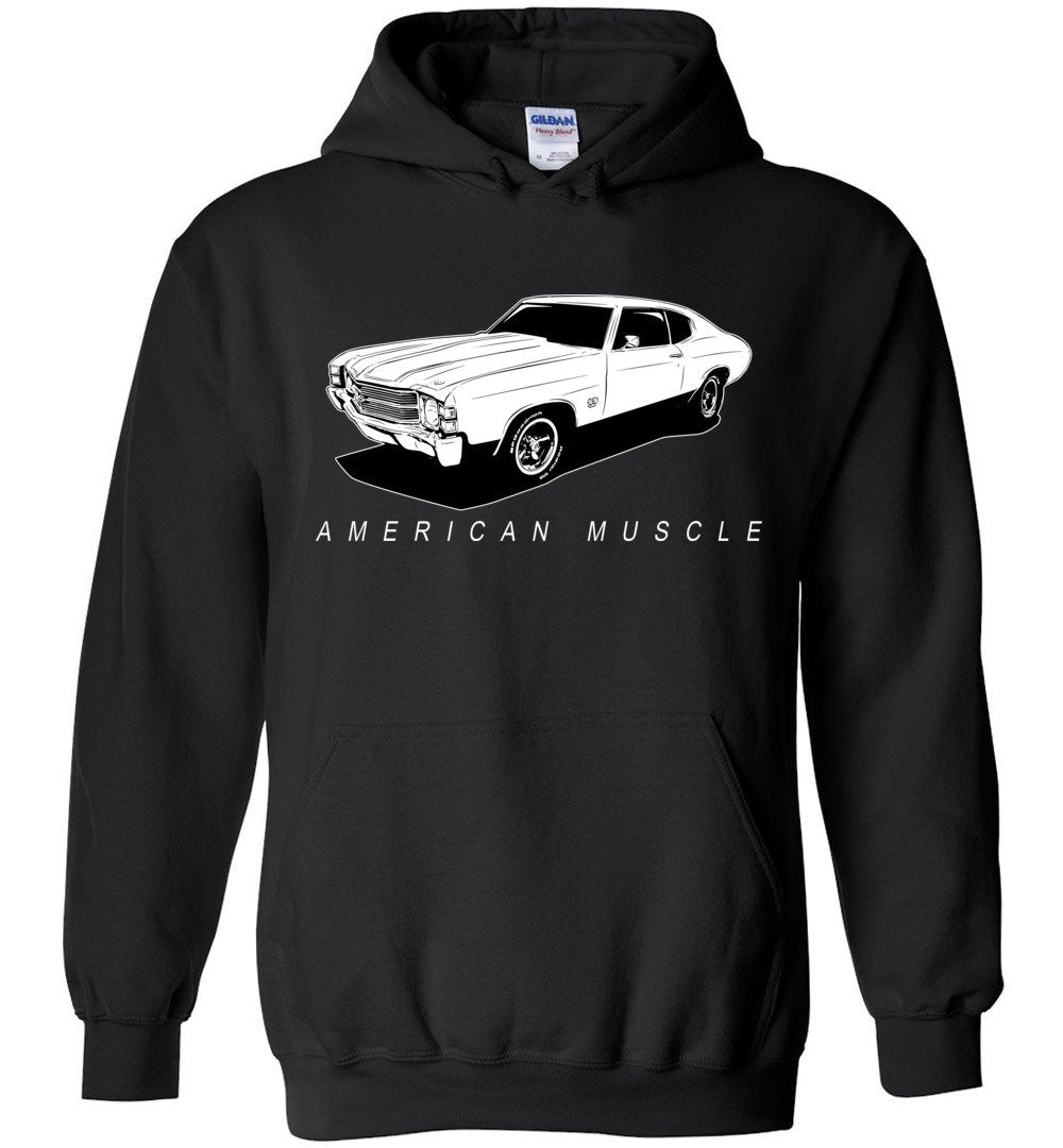 1971 Chevrolet Chevelle Sweatshirt Hoodie | Aggressive Thread Muscle Car Apparel