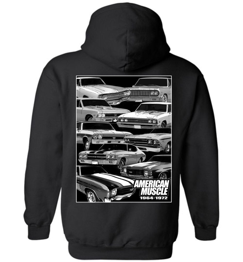 1964-1972 Chevelle - American Muscle Hoodie Sweatshirt (🏷️10% OFF - Purchase 2 Or More Items)
