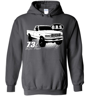 Ford OBS Hoodie | Ford OBS Powerstroke Sweatshirt | Aggressive Thread Diesel Truck Apparel