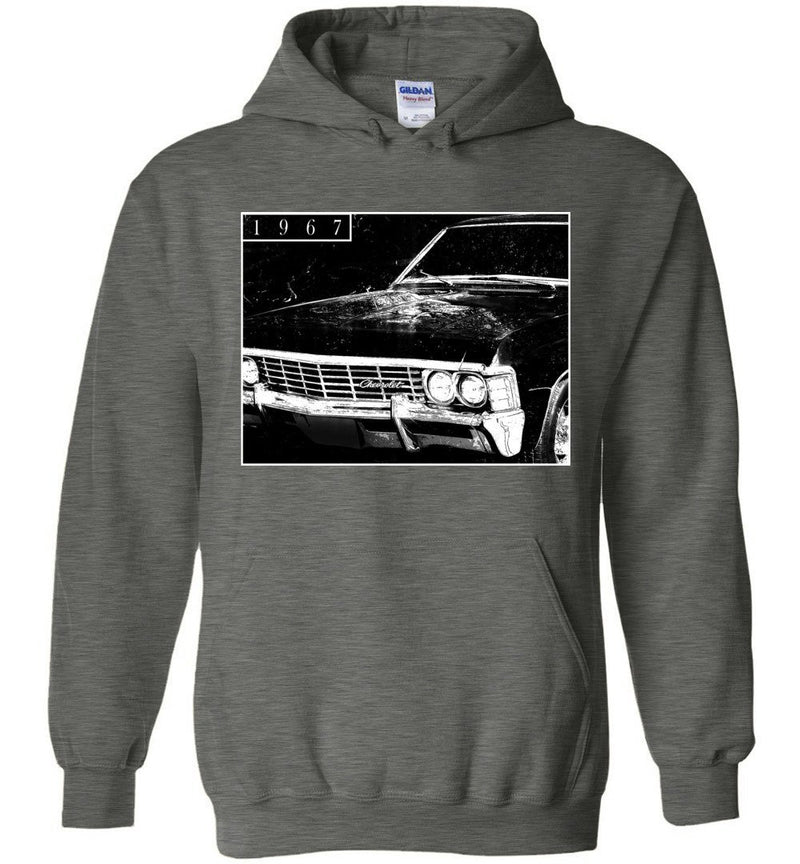 1967 Chevrolet Impala Hoodie Sweatshirt | Aggressive Thread Muscle Car Apparel