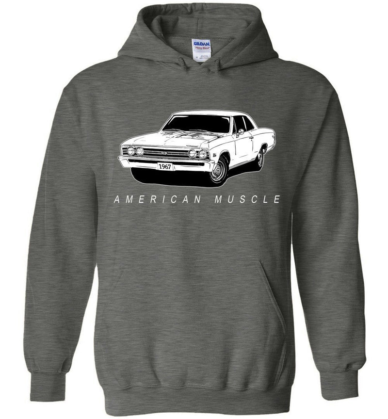 1967 Chevrolet Chevelle Hoodie Sweatshirt | Aggressive Thread Muscle Car Apparel