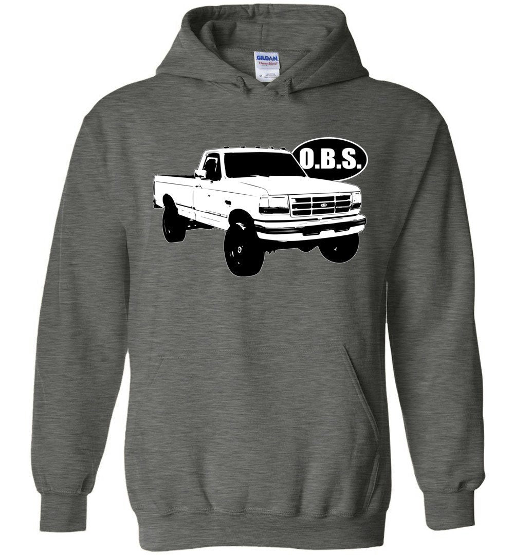 OBS Super Duty Single Cab Hoodie Sweatshirt - Aggressive Thread Diesel Truck T-Shirts