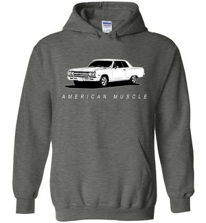1965 Chevrolet Chevelle Hoodie Sweatshirt | Aggressive Thread Muscle Car Apparel