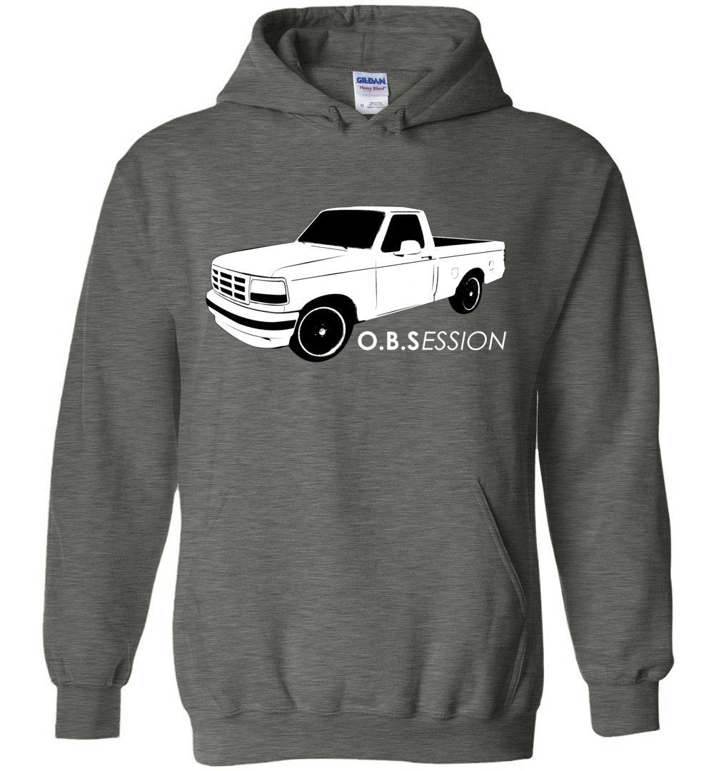 OBS Single Cab F150 Hoodie Sweatshirt - Aggressive Thread Diesel Truck T-Shirts