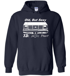 OBS Powerstroke 7.3l Diesel Power Hoodie Sweatshirt - Aggressive Thread Diesel Truck T-Shirts