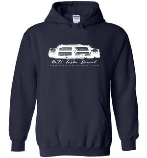 Cummins 6.7 Ram Hoodie Sweatshirt | Aggressive Thread Diesel Truck T-Shirts