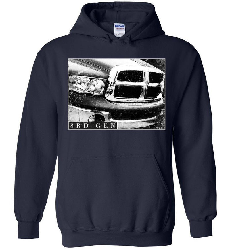 Cummins Hoodie Sweatshirt | 3rd gen Dodge Ram Cummins Apparel | Aggressive Thread Diesel Truck Apparel