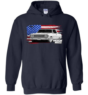 1964 Chevrolet Chevelle Hoodie Sweatshirt | Aggressive Thread Muscle Car Apparel