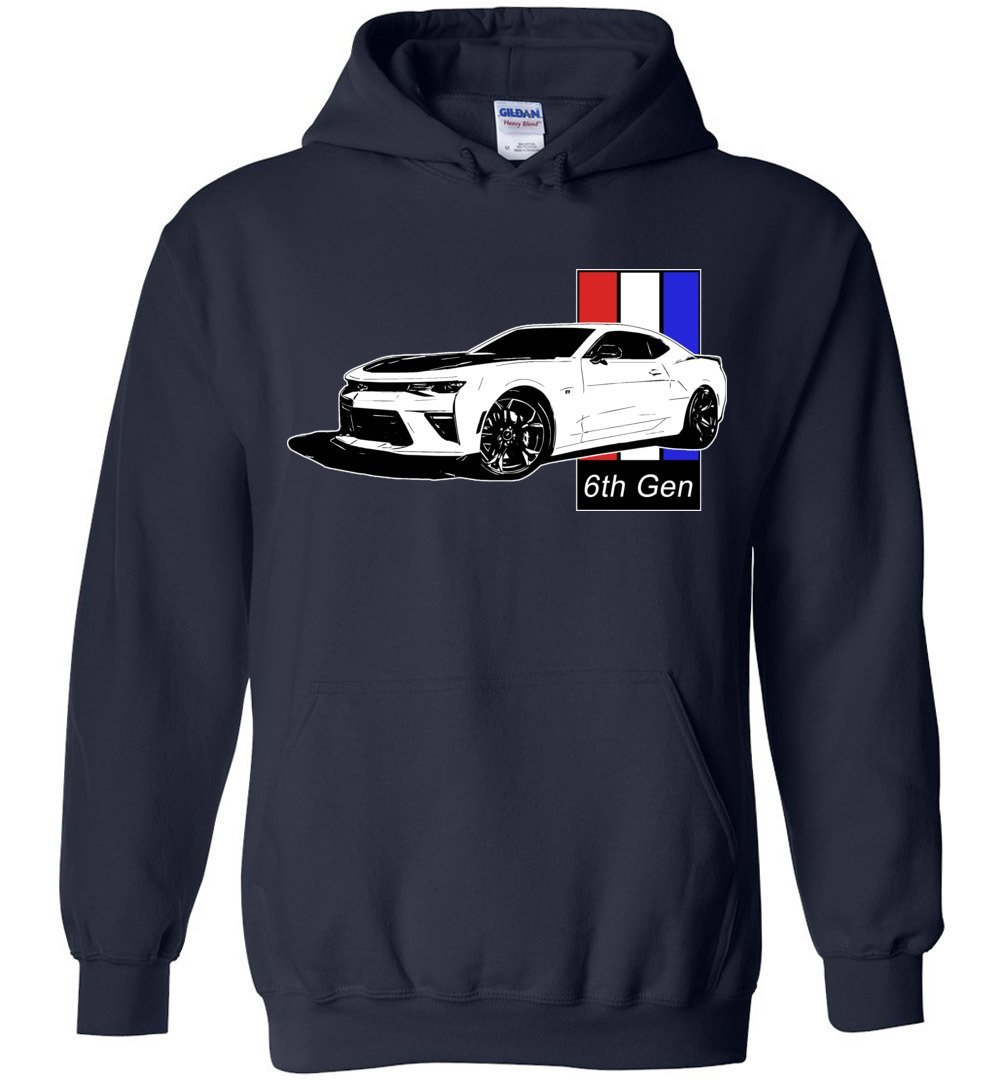 Camaro Hoodie Sweatshirt | 6th gen Camaro | Aggressive Thread Muscle Car Apparel