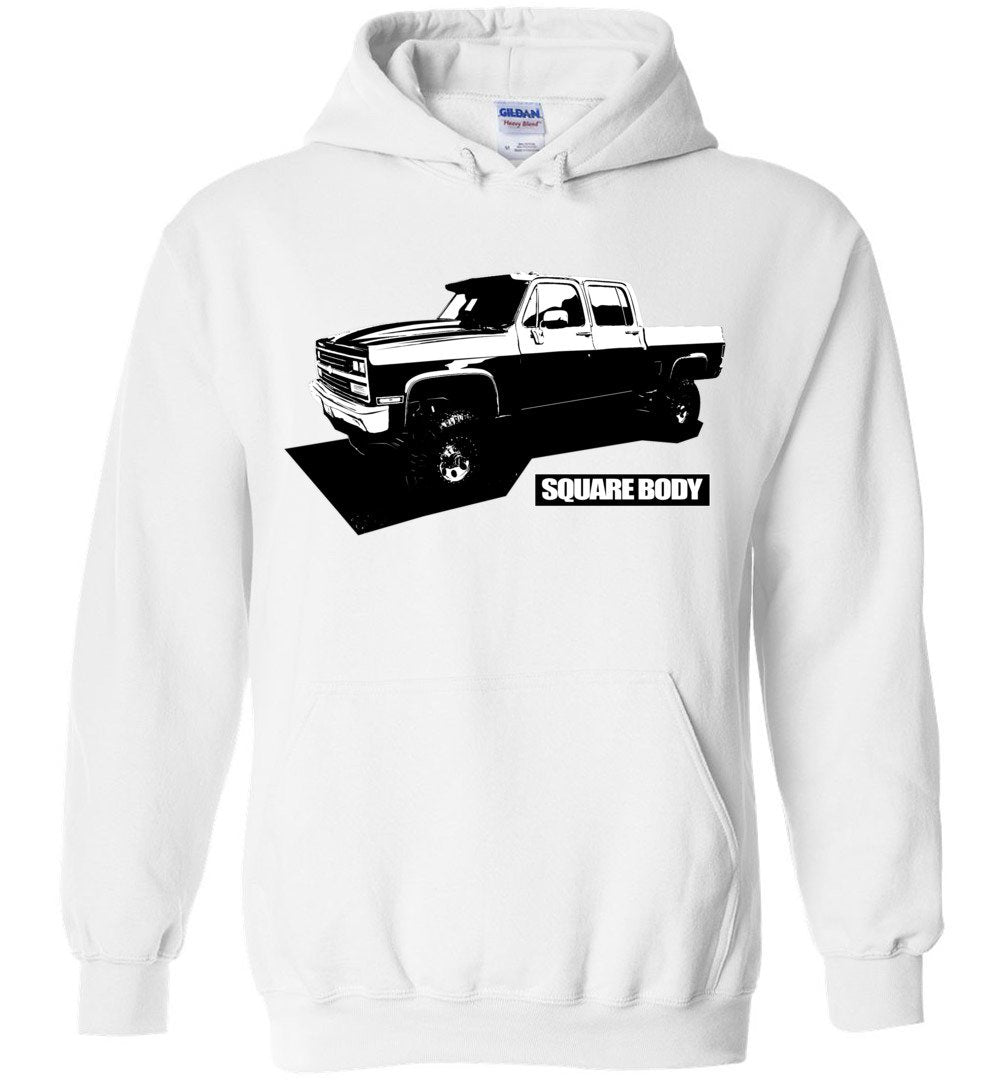 Square Body Chevy Truck Crew Cab Hoodie | Squarebody Shirt | Aggressive Thread Diesel Truck Apparel