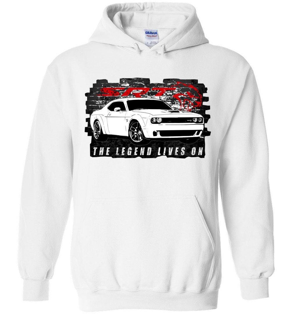 Dodge Challenger Demon SRT HEMI Hoodie | MOPAR Sweatshirt | Aggressive Thread Muscle Car Apparel