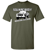 Squarebody Square Body Legends Never Die T-Shirt - Aggressive Thread Diesel Truck T-Shirts