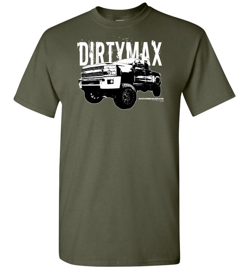 Dirtymax Duramax T-Shirt with 09 Truck - Aggressive Thread Diesel Truck T-Shirts