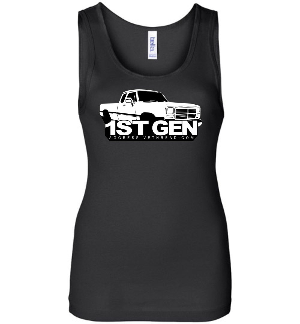 First 1st Gen Dodge Ram Truck Women Tank Top - Aggressive Thread Diesel Truck T-Shirts