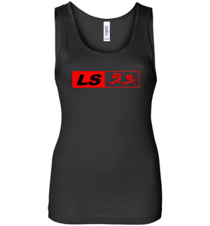 LS GM 5.3 Motor Womens Tank Top - Aggressive Thread Diesel Truck T-Shirts