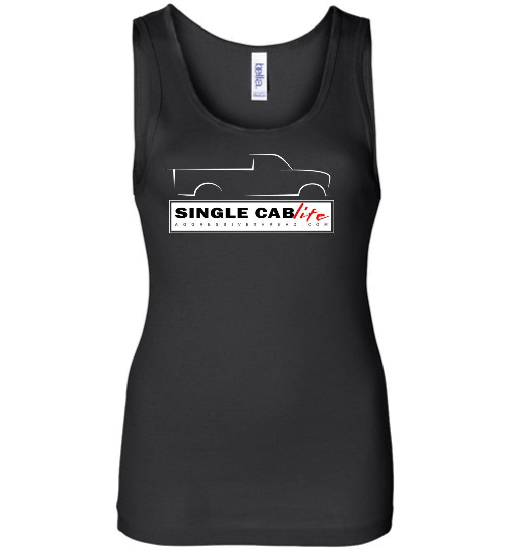 Single Cab Life Womens Tank Top - Aggressive Thread Diesel Truck T-Shirts