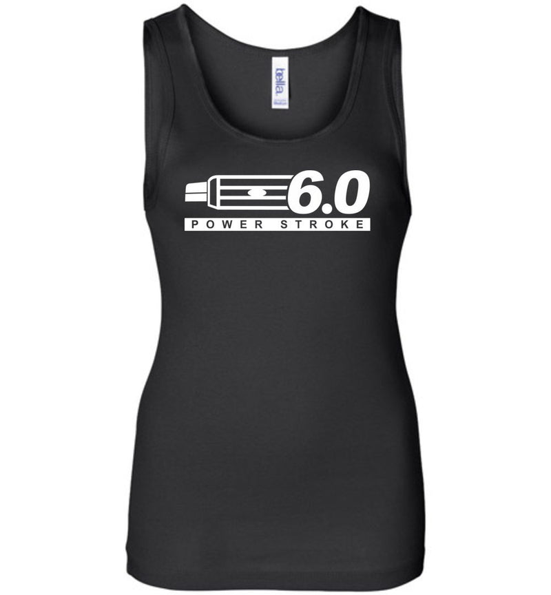 Powerstroke Power Stroke 6.0 With Grille Womens Tank Top - Aggressive Thread Diesel Truck T-Shirts
