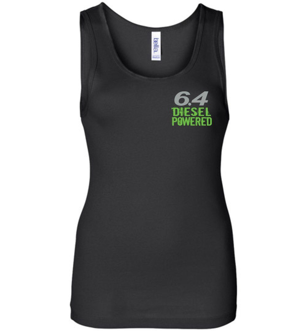 6.4 Six MF'N Four Womens Tank Top - Aggressive Thread Diesel Truck T-Shirts