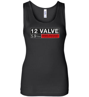 12v Dodge / Ram Diesel Womens Tank Top - Aggressive Thread Diesel Truck T-Shirts