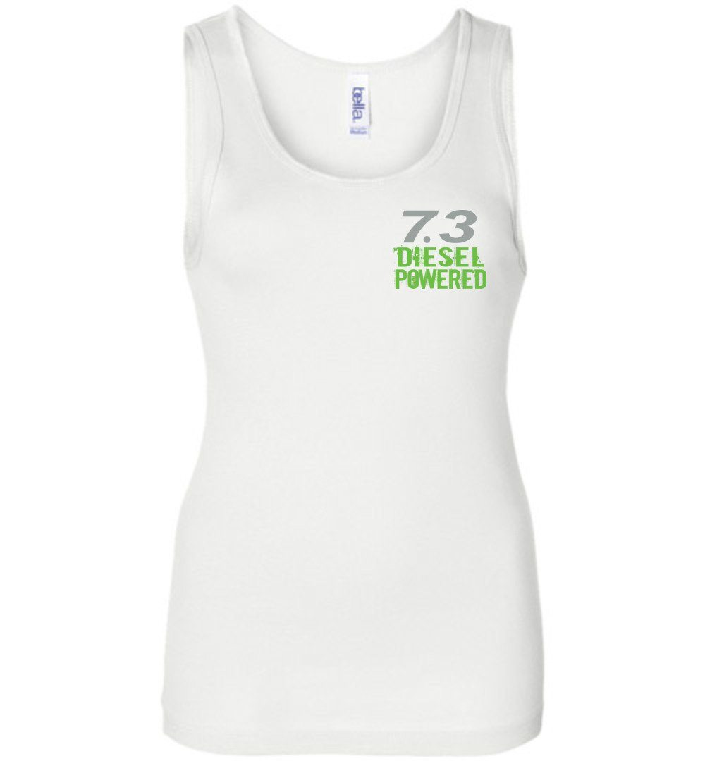 7.3 Seven MF'N Three Womens Tank Top - Aggressive Thread Diesel Truck T-Shirts