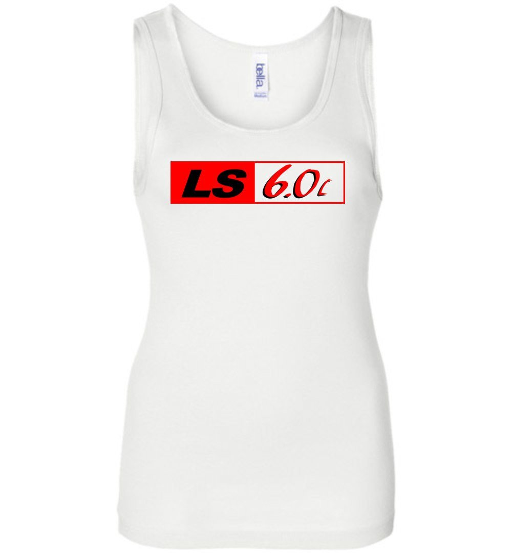 LS GM 6.0 Motor Womens Tank Top - Aggressive Thread Diesel Truck T-Shirts