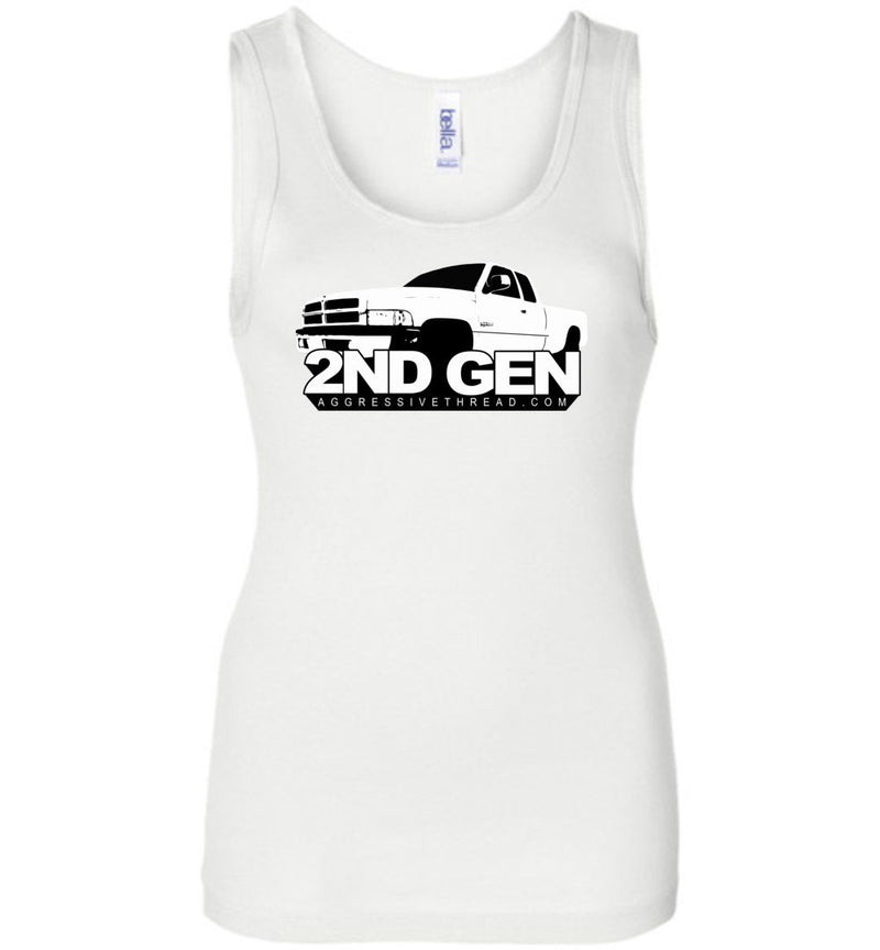 Second Gen Dodge Ram Truck | Womens Tank Top | Aggressive Thread Diesel Truck T-Shirts